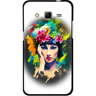 Snooky Printed Classy Girl Mobile Back Cover For Samsung Galaxy Core Prime - Multicolour