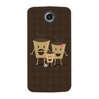 Snooky Printed Wake Up Coffee Mobile Back Cover For Motorola Nexus 6 - Multicolour