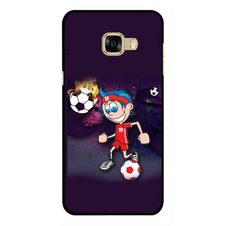 Snooky Printed My Game Mobile Back Cover For Samsung Galaxy C7 - Multicolour
