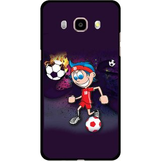 Snooky Printed My Game Mobile Back Cover For Samsung Galaxy J7 (2016) - Multicolour