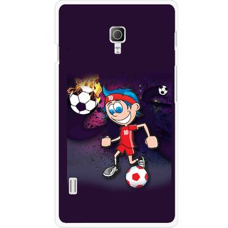 Snooky Printed My Game Mobile Back Cover For Lg Optimus L7 II P715 - Multicolour