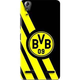 Snooky Printed Sports Logo Mobile Back Cover For Lenovo A6000 - Black