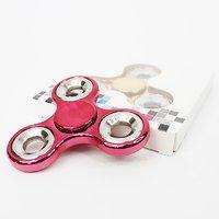 Triangle Chrome Fidget Spinner Finger Hand Spinner Focus Toy