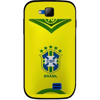 the best attitude 3581a dd343 Snooky Printed Brasil Mobile Back Cover For Micromax Canvas Fun A63 - Yellow