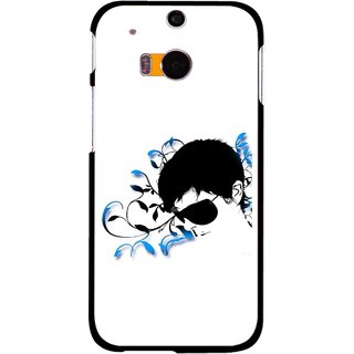 Snooky Printed Stylo Man Mobile Back Cover For HTC One M8 - Multicolour
