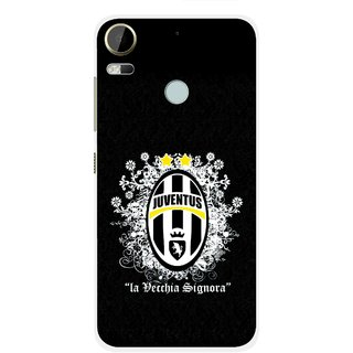 Snooky Printed Signora Mobile Back Cover For HTC Desire 10 Pro - Black