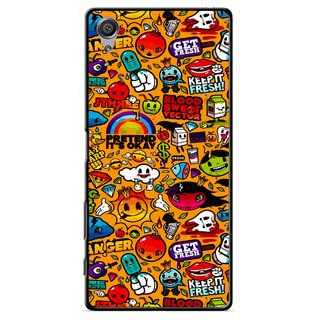 Snooky Printed Freaky Print Mobile Back Cover For Sony Xperia X - Yellow