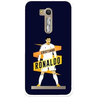 Snooky Printed Ronaldo Mobile Back Cover For Asus Zenfone Go ZB551KL - Multi