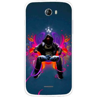 Snooky Printed Live In Attitude Mobile Back Cover For Micromax Bolt A068 - Multicolour