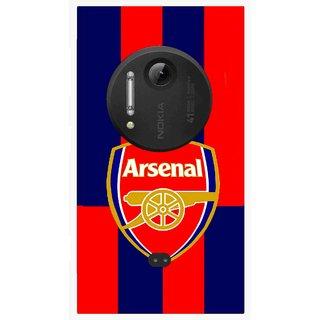 Snooky Printed Sports Logo Mobile Back Cover For Nokia Lumia 1020 - Multi