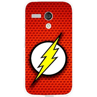 Snooky Printed Dont Touch Mobile Back Cover For Moto G - Red