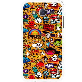 Snooky Printed Freaky Print Mobile Back Cover For Samsung Galaxy J5 - Yellow