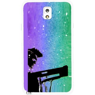 Snooky Printed Sparkling Boy Mobile Back Cover For Samsung Galaxy Note 3 - Multicolour