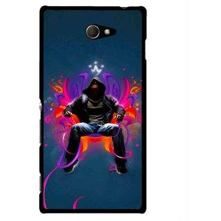 Snooky Printed Live In Attitude Mobile Back Cover For Sony Xperia M2 - Multicolour