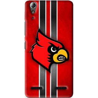 Snooky Printed Red Eagle Mobile Back Cover For Lenovo A6000 - Red