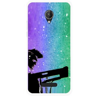 Snooky Printed Sparkling Boy Mobile Back Cover For Micromax Canvas Spark Q380 - Multicolour