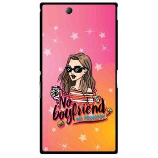 Snooky Printed No Boyfriend Mobile Back Cover For Sony Xperia Z Ultra - Multicolour