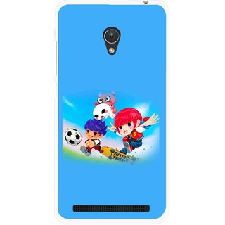 Snooky Printed Childhood Mobile Back Cover For Asus Zenfone Go ZC451TG - Blue