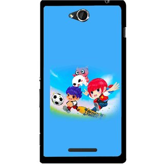 Snooky Printed Childhood Mobile Back Cover For Sony Xperia C - Blue