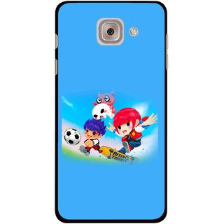 Snooky Printed Childhood Mobile Back Cover For Samsung Galaxy J7 Max - Blue