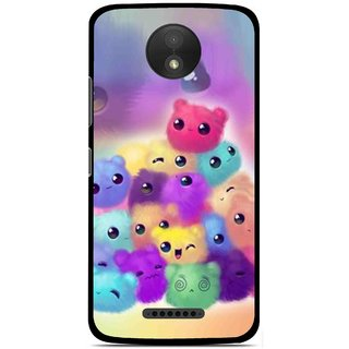 Snooky Printed Cutipies Mobile Back Cover For Motorola Moto C Plus - Multicolour