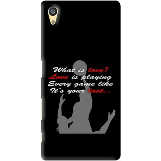 Snooky Printed Game Lover Mobile Back Cover For Sony Xperia Z5 - Black