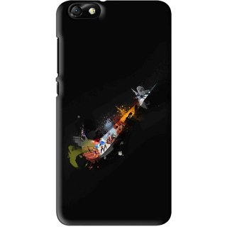 Snooky Printed All is Right Mobile Back Cover For Huawei Honor 4X - Black