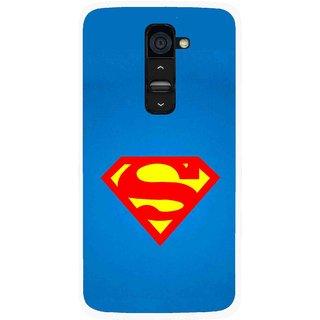Snooky Printed Super Logo Mobile Back Cover For Lg G2 - Blue