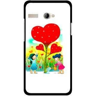 Snooky Printed Heart Plant Mobile Back Cover For Intex Aqua 3G Pro - Multicolour