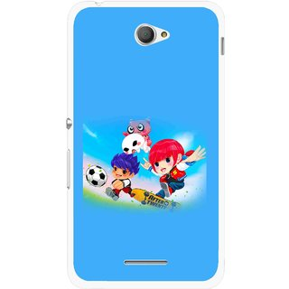 Snooky Printed Childhood Mobile Back Cover For Sony Xperia E4 - Blue