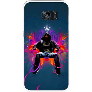 Snooky Printed Live In Attitude Mobile Back Cover For Samsung Galaxy S7 Edge - Multicolour