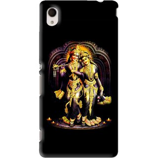 Snooky Printed Radha Krishan Mobile Back Cover For Sony Xperia M4 - Black