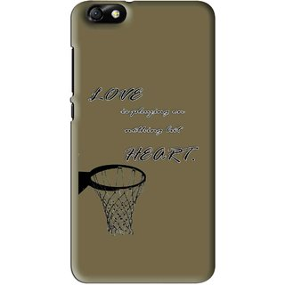 Snooky Printed Heart Games Mobile Back Cover For Huawei Honor 4X - Brown