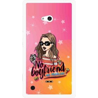 Snooky Printed No Boyfriend Mobile Back Cover For Nokia Lumia 720 - Multicolour