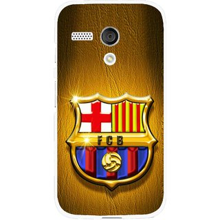 Snooky Printed FootBall Club Mobile Back Cover For Moto G - Brown