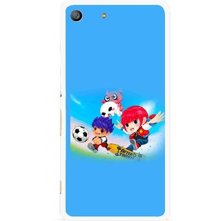 Snooky Printed Childhood Mobile Back Cover For Sony Xperia M5 - Blue