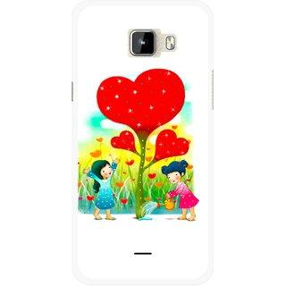 Snooky Printed Heart Plant Mobile Back Cover For Micromax Canvas Nitro A310 - Multicolour