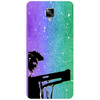 Snooky Printed Sparkling Boy Mobile Back Cover For OnePlus 3 - Multicolour