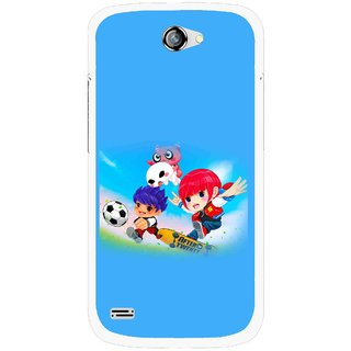 Snooky Printed Childhood Mobile Back Cover For Gionee Pioneer P3 - Blue
