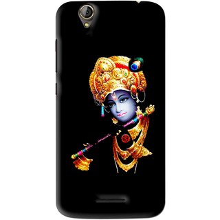 Snooky Printed God Krishna Mobile Back Cover For Acer Liquid Z630S - Black