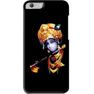 Snooky Printed God Krishna Mobile Back Cover For Micromax Canvas Knight 2 E471 - Black