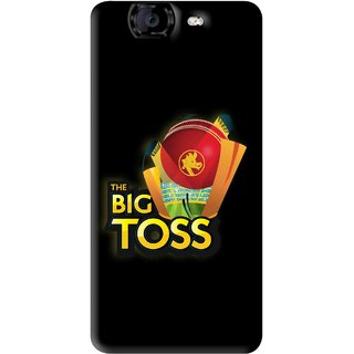 Snooky Printed Big Toss Mobile Back Cover For Micromax Canvas A350 - Black