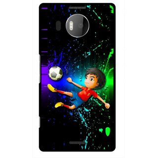 Snooky Printed High Kick Mobile Back Cover For Microsoft Lumia 950 XL - Multi