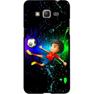 Snooky Printed High Kick Mobile Back Cover For Samsung Galaxy Grand Max - Multi