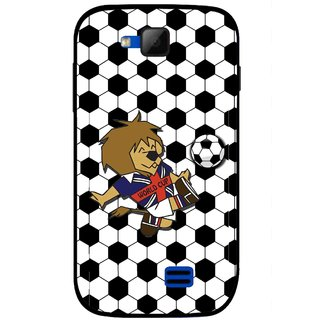 Snooky Printed Football Cup Mobile Back Cover For Micromax Canvas Fun A63 - Multi