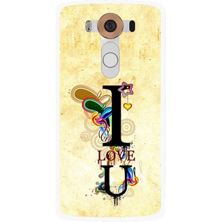 Snooky Printed Love You Mobile Back Cover For Lg V10 - Multi