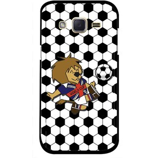 Snooky Printed Football Cup Mobile Back Cover For Samsung Galaxy j2 - Multi