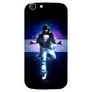 Snooky Printed Hug Me Mobile Back Cover For Micromax Canvas 4 A210 - Multicolour