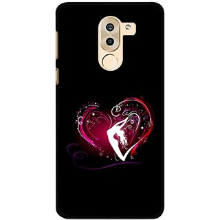 Snooky Printed Lady Heart Mobile Back Cover For Huawei Honor 6X - Multi
