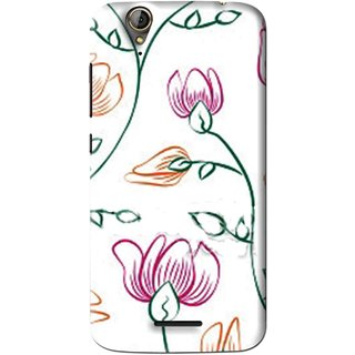 Snooky Printed Flower Sketch Mobile Back Cover For Acer Liquid Z630S - White